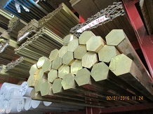 C3604 Brass Hexagon Bar